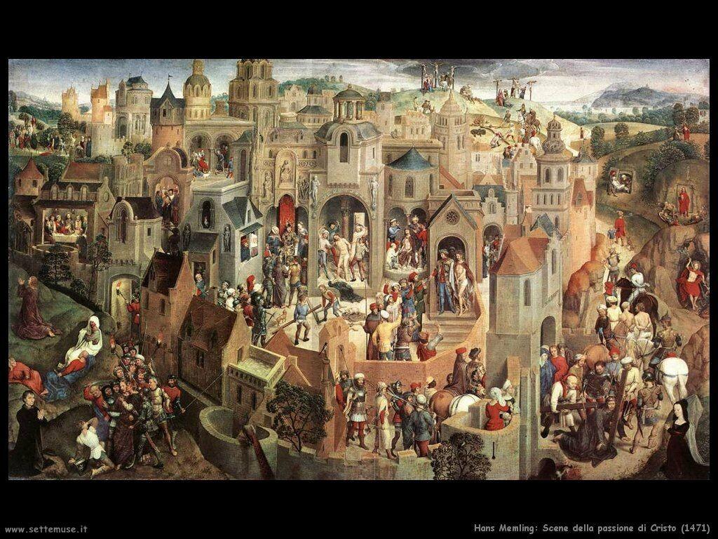 Pilato, Giuda e Matteo (VI): Hans Memling_001_scene_della_passione_di_cristo_