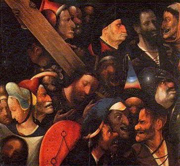 H. Bosch: La Passione di Cristo (particolare)