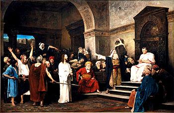 Mihàil Munkacsy: Cristo di fronte a Pilato (1881)