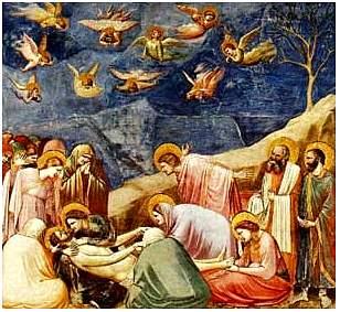Giotto : Scrovegni (Padova): Compianto su Cristo Morto