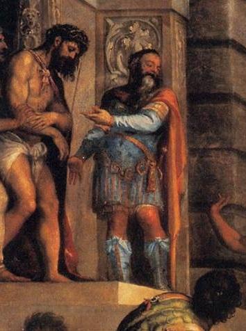 Tiziano: Ecce Homo( particolare)