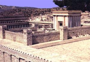 Pilato, GIuda e Matteo (I): Plastico del Tempio