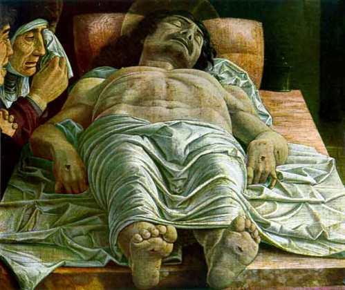 Andrea  Mantegna : Il Cristo Morto ( Accademia di Brera)