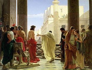 Pilato, Giuda e Matteo (IV):  Gerusalemme Ecce Homo Antonio Ciseri