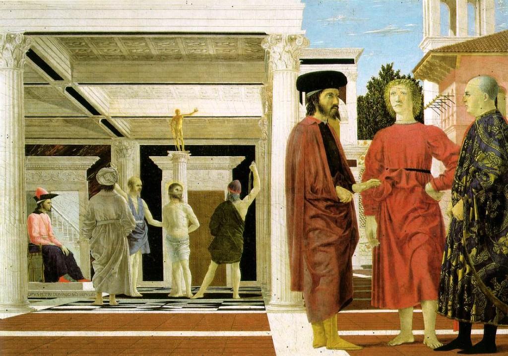 Piero della Francesca : La Flagellazione - Arezzo