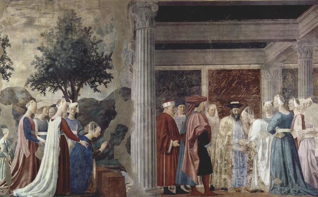 Pier della Francesca, il Pittore dell'Ineloquenza (VI)- La Regina di Saba di fronte a Salomone