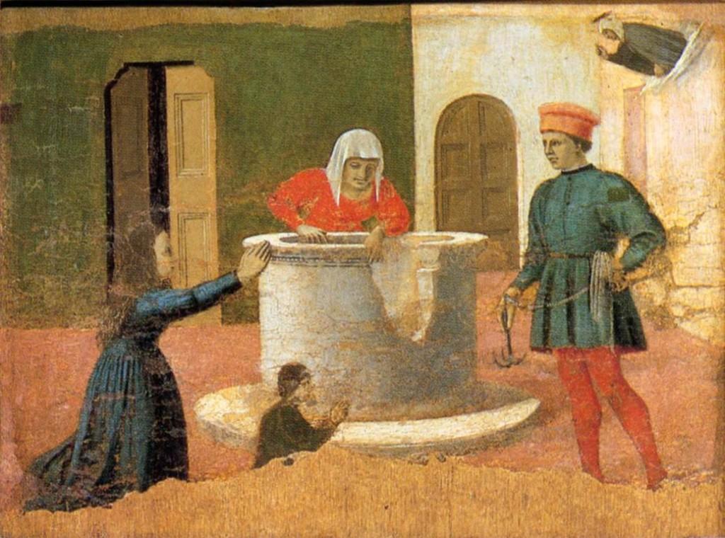 Pier della Francesca, il Pittore dell'Ineloquenza (VI) Santa Elisabetta salva un bambino dal pozzo
