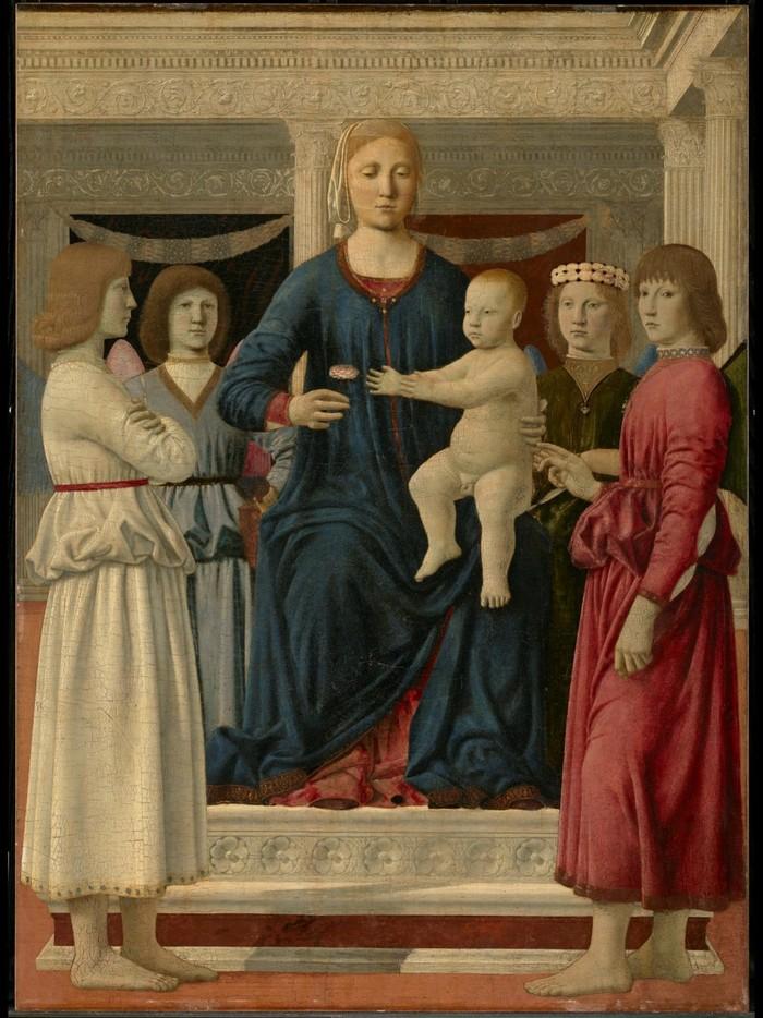 Piero, il Pittore dell'Ineloquenza (IV) Madonna con Bambino e 4 Angeli