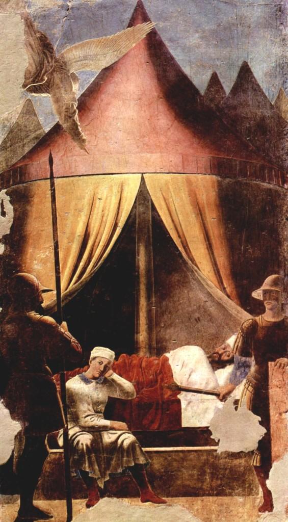 Piero, il Pittore dell'Ineloquenza (IV) Il sogno di Costantino . Piero, inventore della pittura metafisica ? Sì!