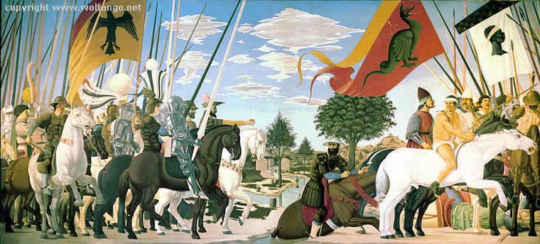 Piero, il Pittore dell'Ineloquenza (IV) La vittoria di Costantino su Massenzio, ovvero <L'alba radiosa e luminosa della Vittoria>
