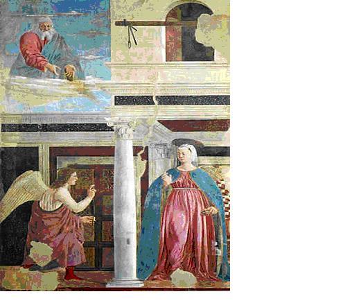 Piero, il Pittore dell'Ineloquenza (IV) L' Annunciazione del Signore. Il Mistero in forme matematico-geometriche, e nello splendore del colore <freddo>, <ineloquente>