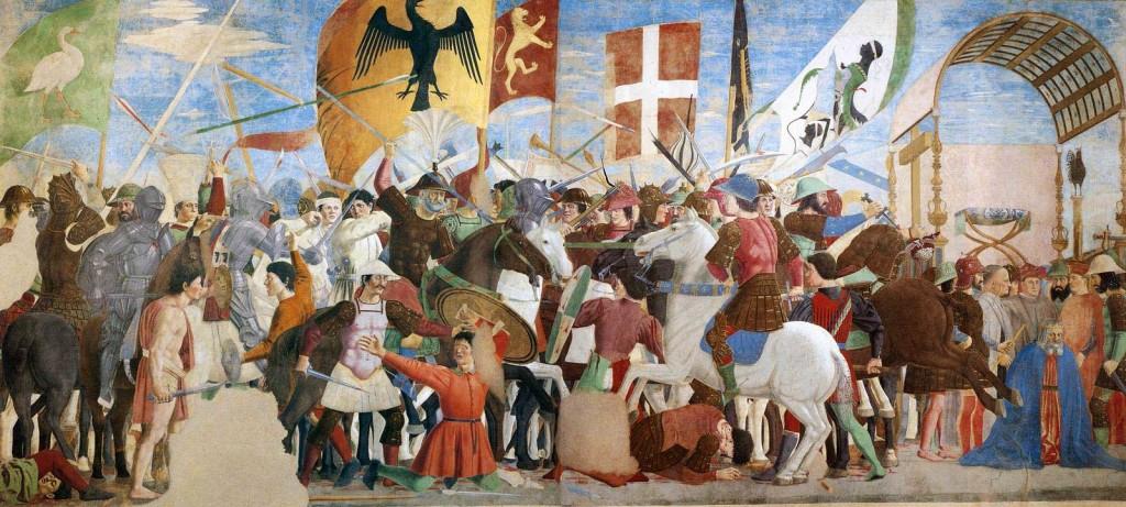 Piero, il Pittore dell'Ineloquenza (IV) - La battaglia di Eraclio e Cosroe, ovvero la Riconquista Cristiana di Gerusalemme (VII secolo d.C.) . Di ciò, al prossimo articolo