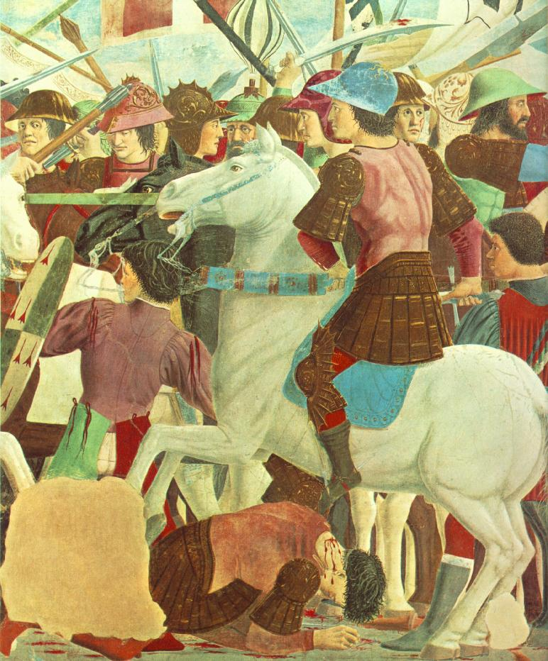 Piero,il Pittore dell'Ineloquenza (IV) - Cosroe all'assalto( particolare del quadro precedente)