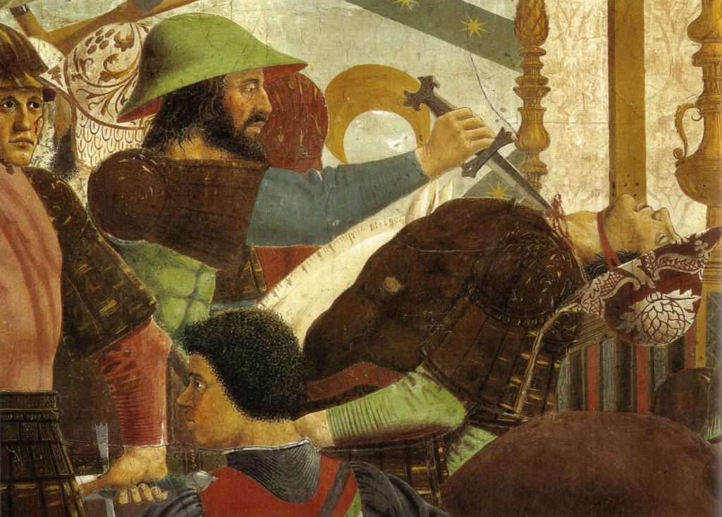 Piero, il Pittore dell'Ineloquenza (V) _ Battaglia di Eraclio e Cosroé (altro particolare)