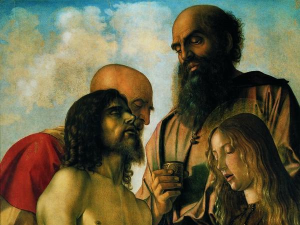"""Pier della Francesca e Giovanni Bellini, pittori ieratici ? Qui """"Il Compianto """" di Giovanni Bellini"""