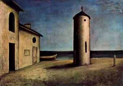 Pier della Francesca, il Pittore dell'Ineloquenza (VI)- Carlo Carrà (1881-1966) - Verso il tramonto: pittura metafisica, cioé <Ineloquente> come quella di Piero!