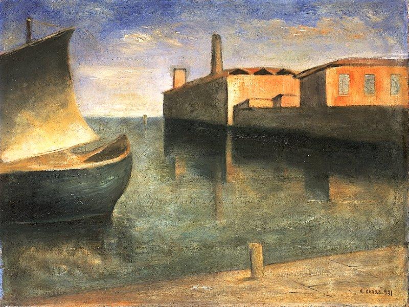 Carlo Carrà (1881-1966) - Cinque del Mattino: paesaggio senza tempo!