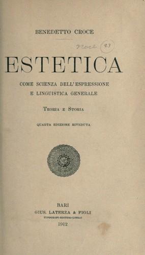 """Benedetto Croce """"Estetica"""", una delle sue opere più importanti"""