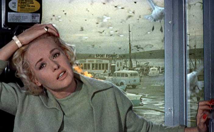 """""""Gli Uccelli"""": Melanie attaccata mentre si trova nella cabina del telefono"""