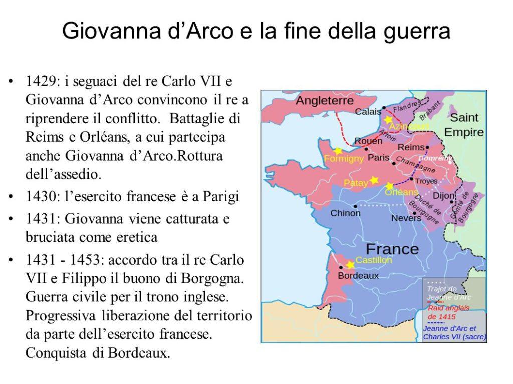 Giovanna (3) I Parte - Cartina geo-politica della Francia al 1431, data del Processo