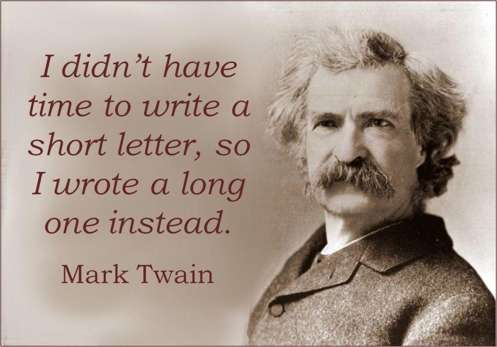 Mark Twain motteggiatore