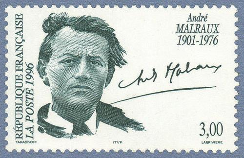 André Malraux (1901-1976) - Francobollo del 20° anniversario della morte (Repubblica di Francia)