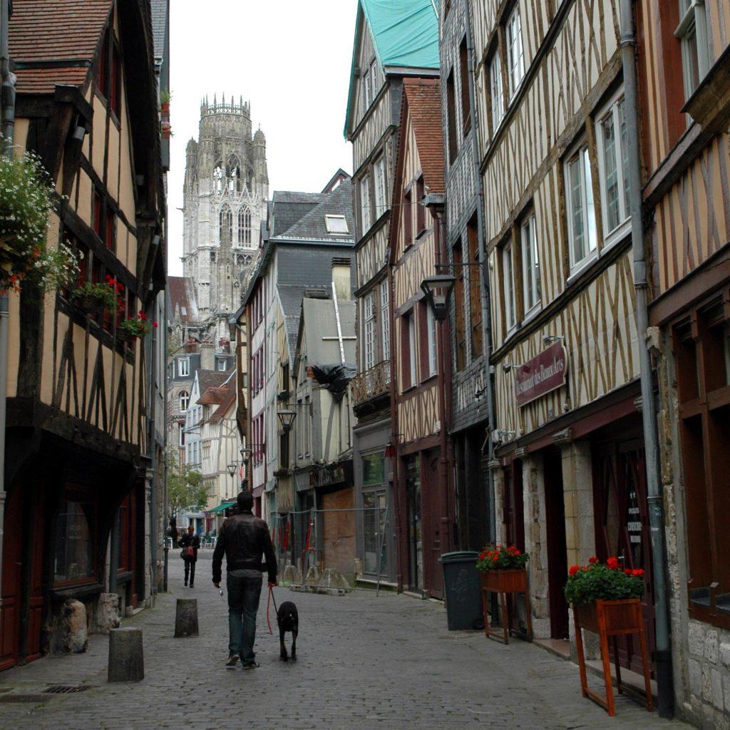 Rouen_Normandia- Strade nell'attuale centro storico