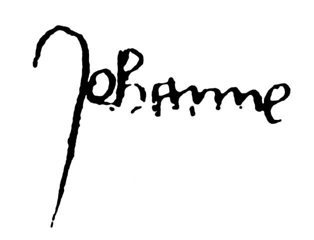 Firma autografa di Santa Giovanna d'Arco <Johanne>