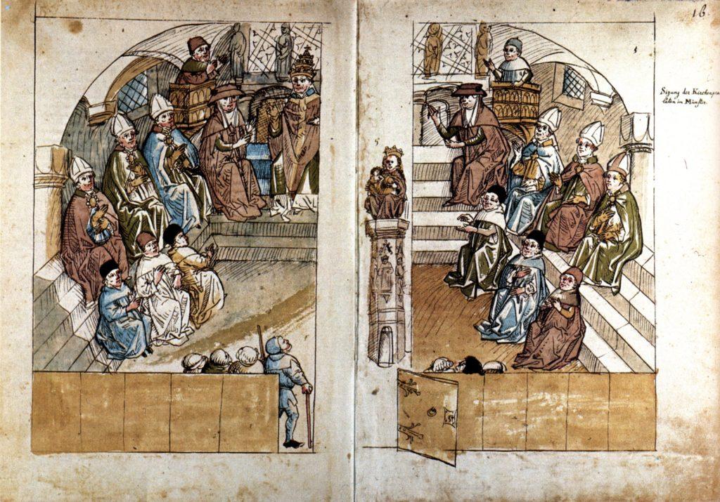 Concilio di Costanza, che pose fine allo Scisma di Avignone, eleggendo Papa Martino V