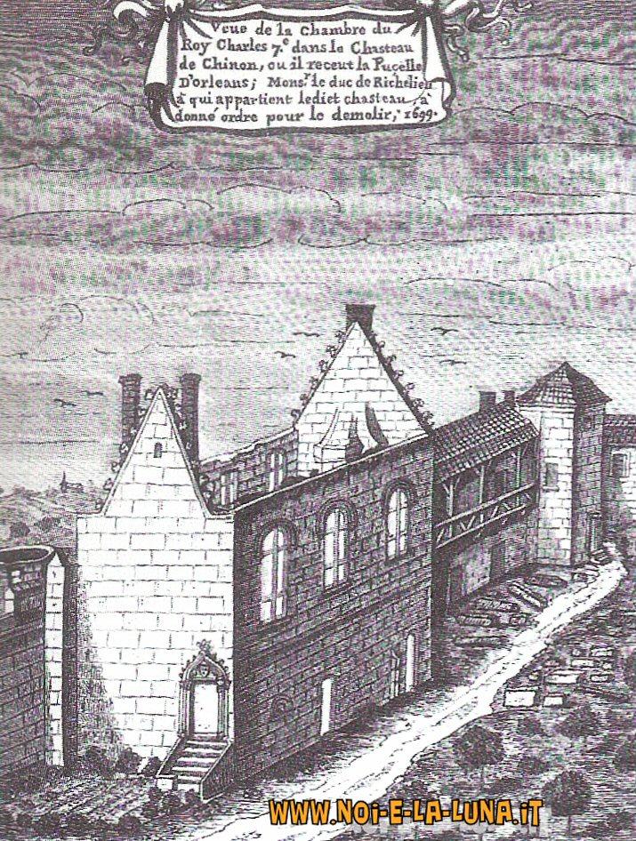 Castello di Chinon, dove Jeanne incontrò il Delfino