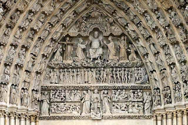 Amiens- Cattedrale - Particolare del Portale
