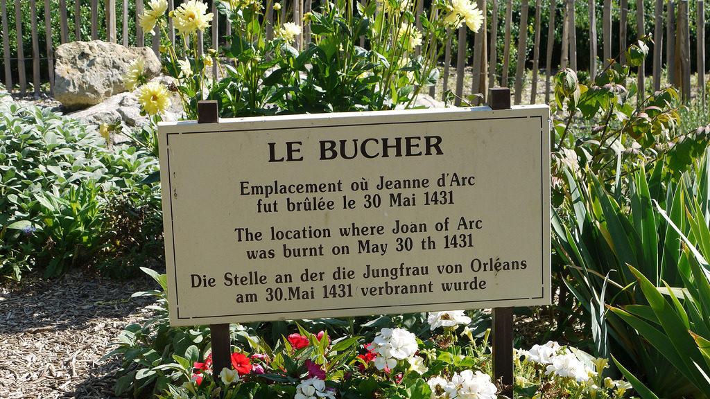 """"""" Le Bucher""""- Il Rogo - Rouen - Place du Vieux Marché"""
