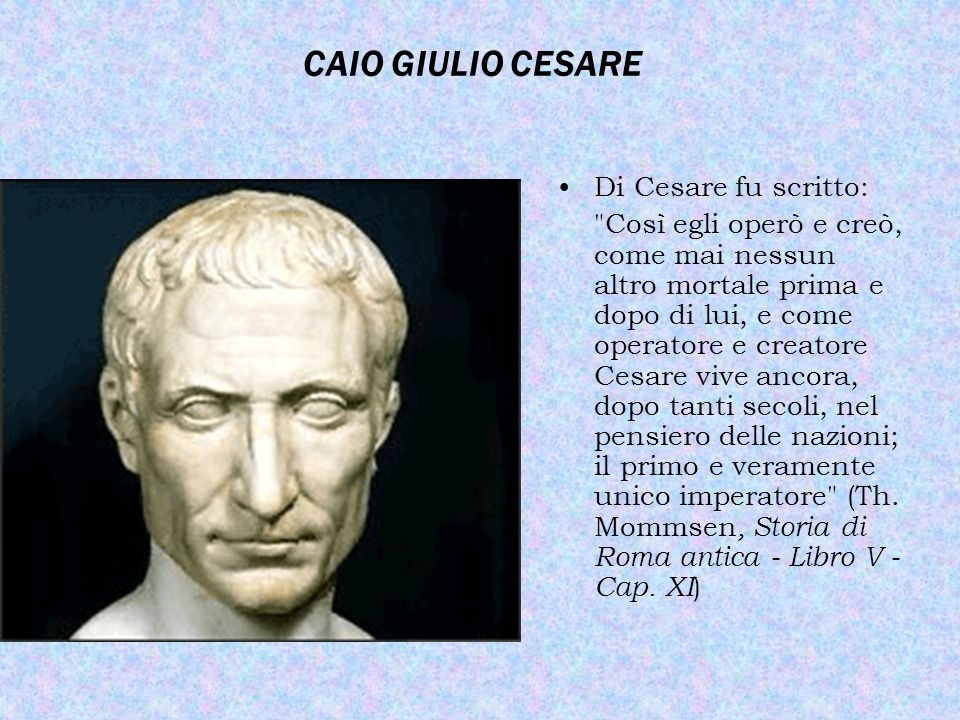 Catilina, Cesare & Mommsen
