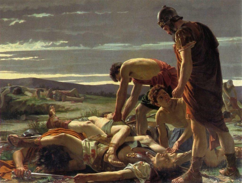 La scoperta del corpo di Catilina