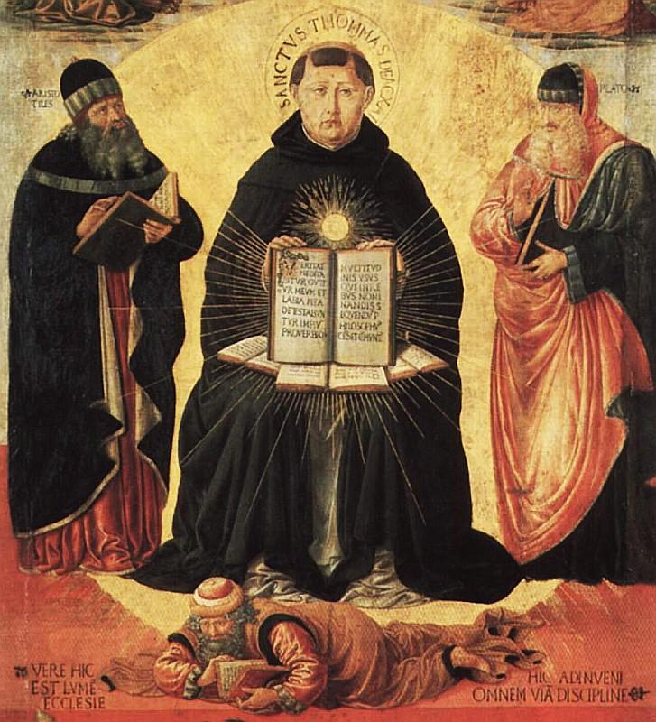 Benozzo Gozzoli Trionfo di San Tommaso