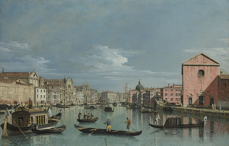Bernardo Bellotto-Venezia: Il Canal Grande (1740)  http://www.nationalgallery.org.uk/paintings/NG2514