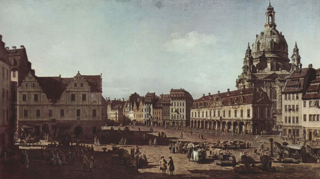 Bernardo Bellotto- Dresda New Market