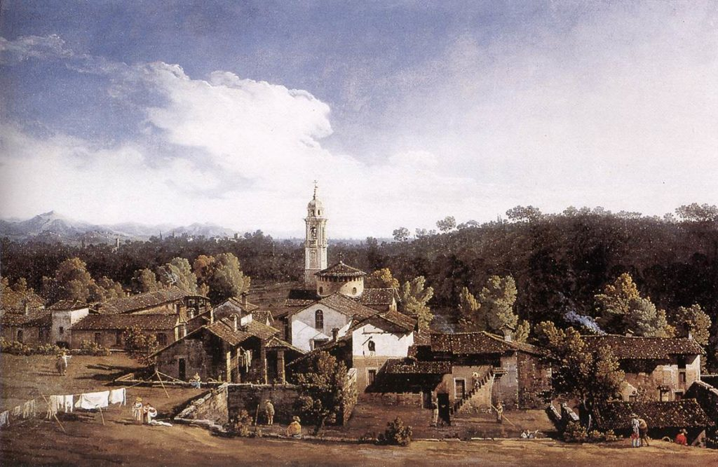 Bernardo Bellotto-Veduta di Gazzada (Varese)