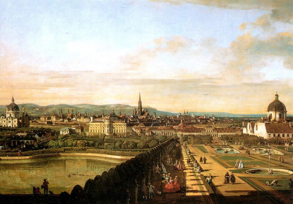 Bernardo Bellotto-Vienna vista dal Belvedere