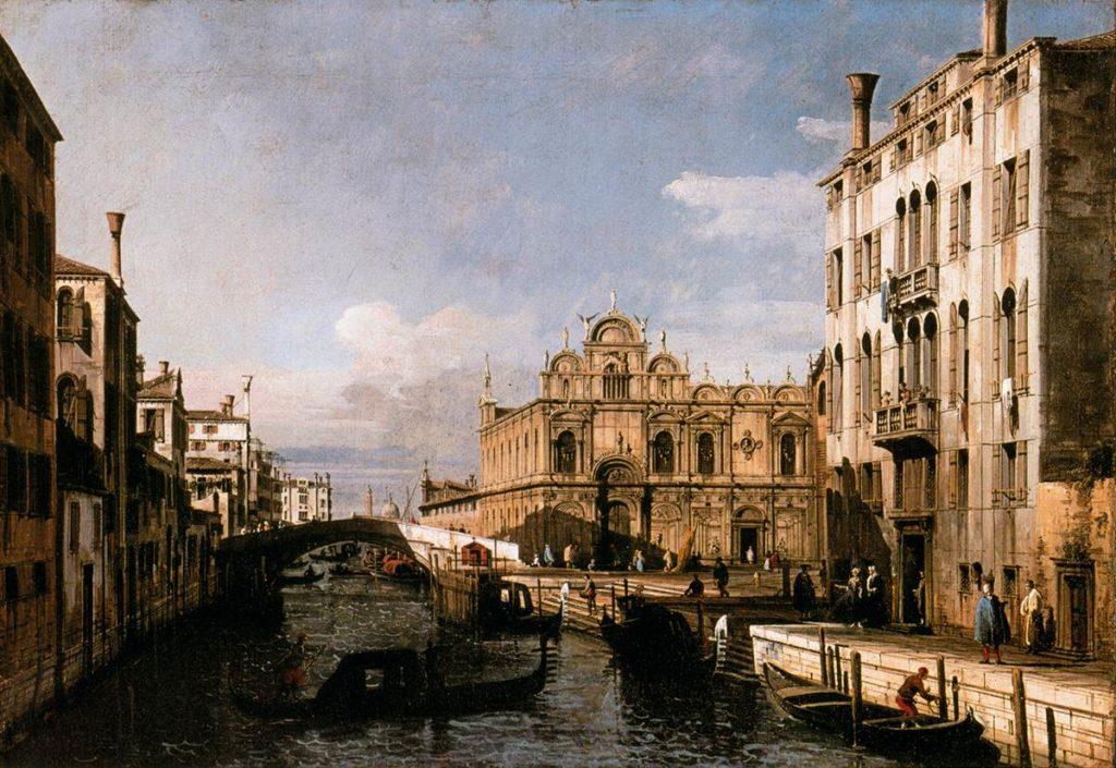 Bernardo Bellotto-Rio dei Mendicanti (Venezia)