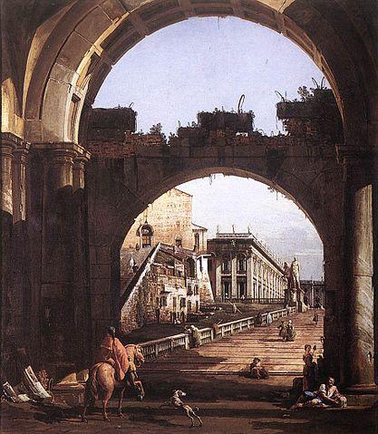 Bernardo Bellotto- Capriccio dalla Capitale