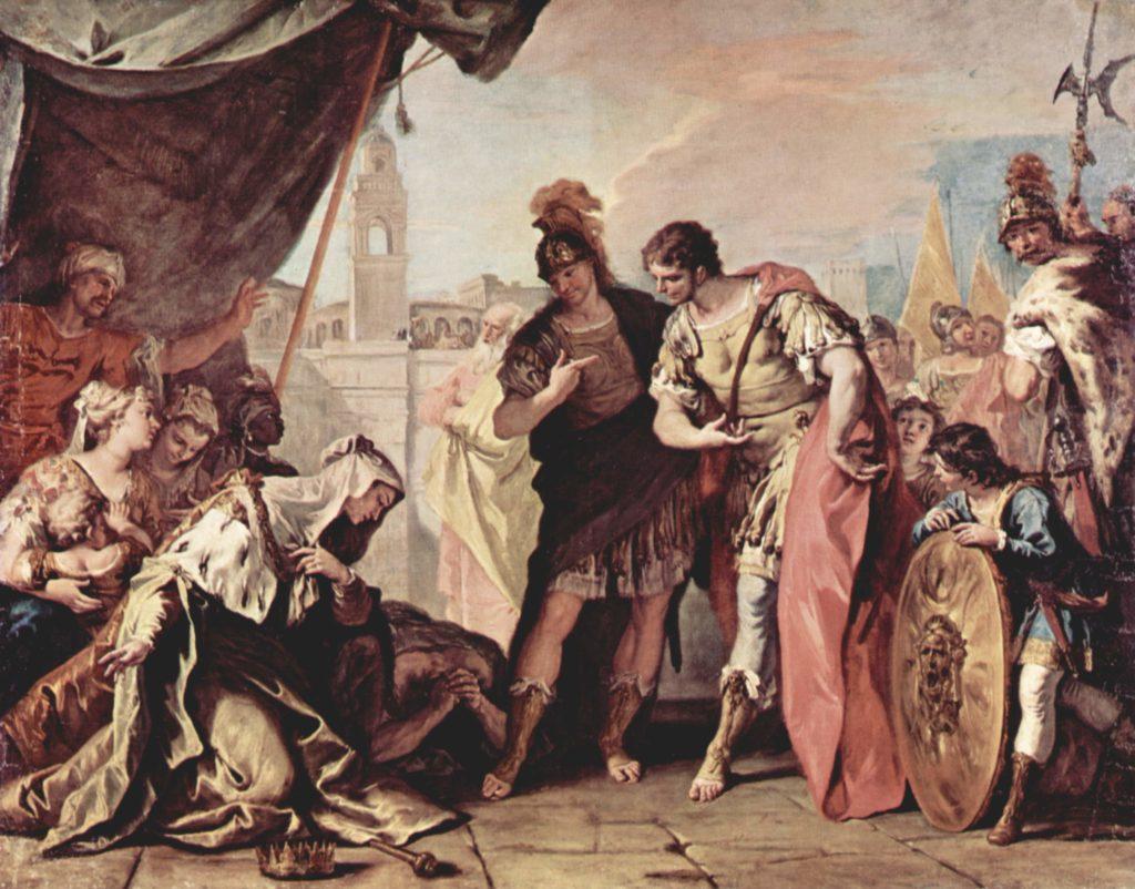 Sebastiano Ricci: Famiglia Dario di fronte ad Alessandro