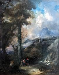 Marco Ricci- Paesaggio con viandanti