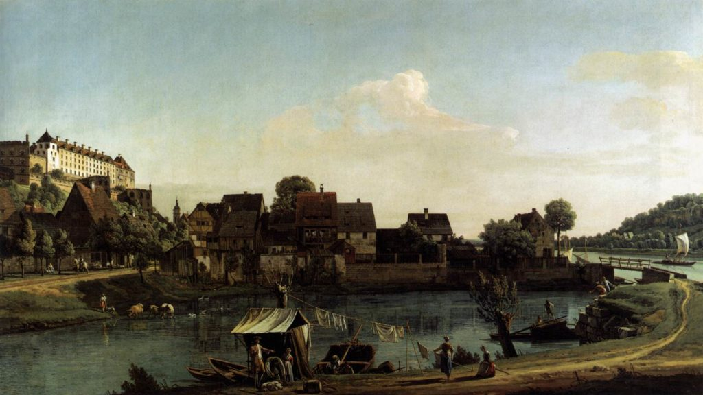 Bernardo Bellotto- Pirna-seen-from-the-harbour-town