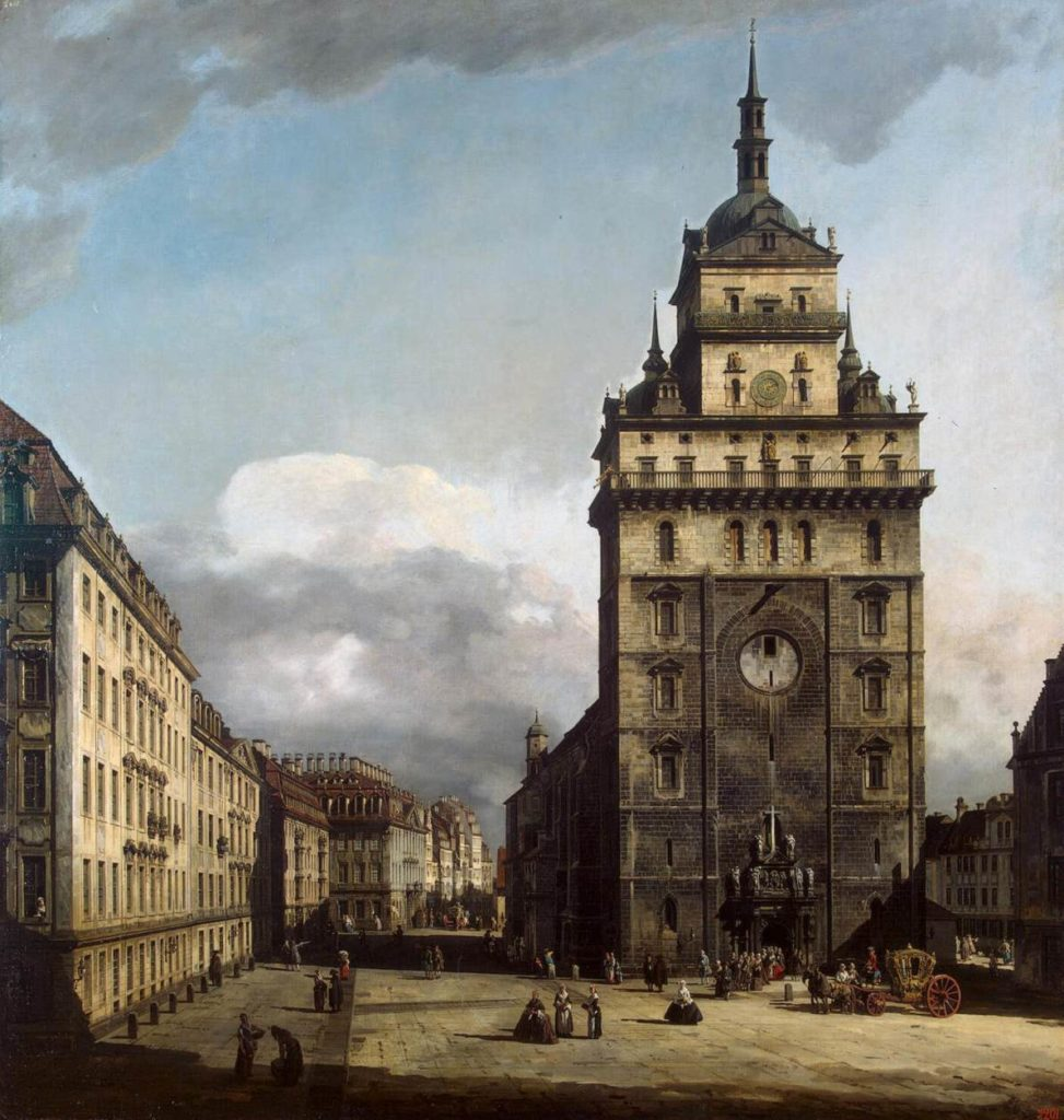 Bernardo Bellotto -Dresda: Ktreutzkirche