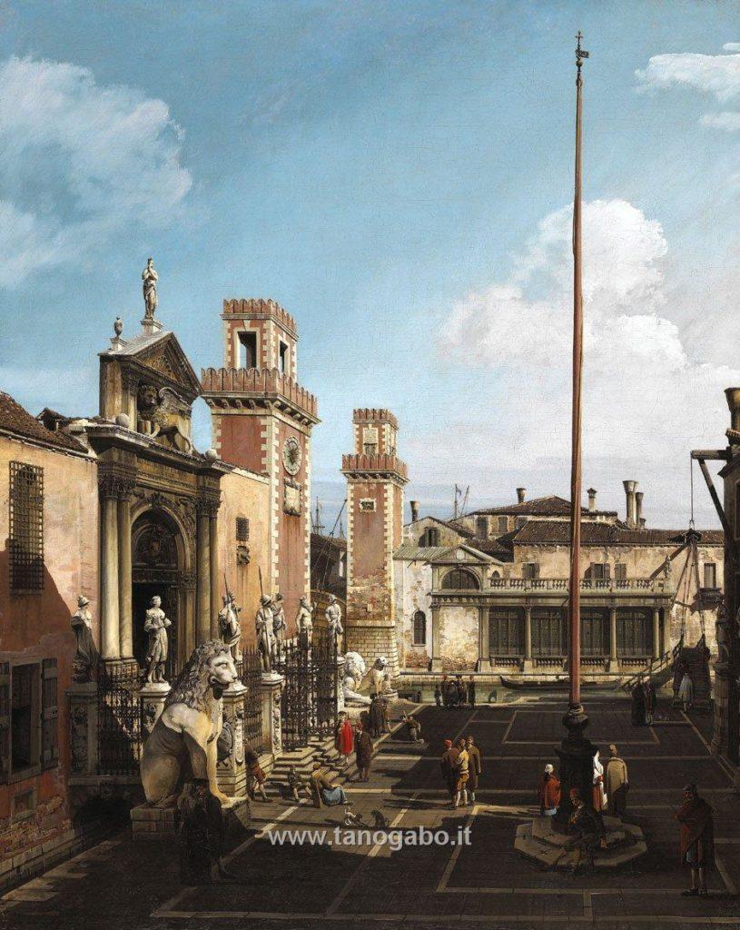 Bernardo Bellotto-Darsena e il Campo di Arsenale