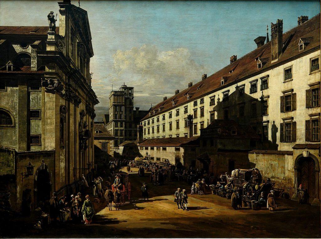 Bernardo Bellotto: Vienna-La chiesa dei Domenicani (1758)