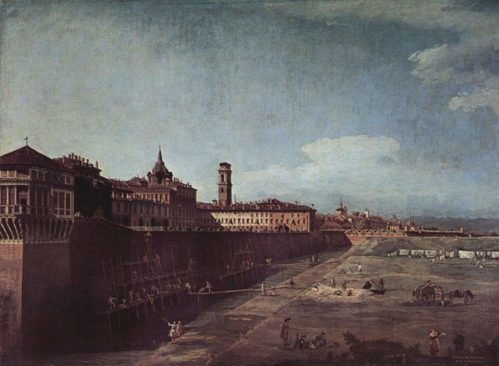 Bernardo Bellotto: Veduta Palazzo Reale Torino