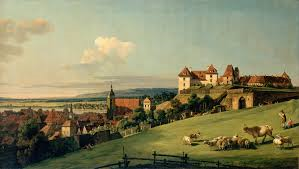 Bernardo Bellotto Pirna dal Castello Sonnerstein (Sassonia-presso Dresda)