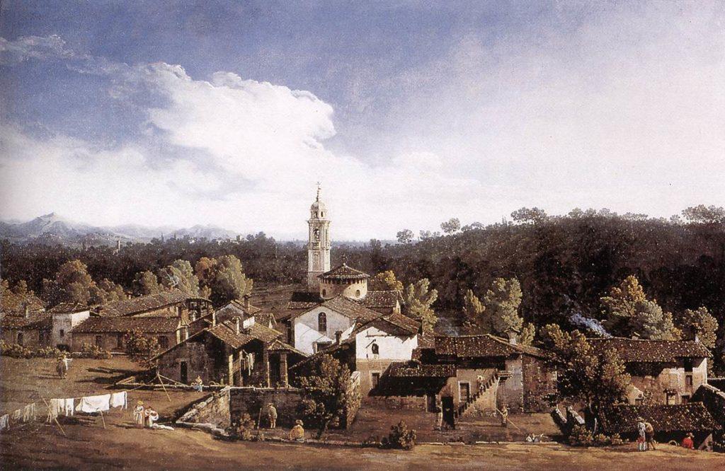 Bernardo Bellotto-Gazzada (Varese) - Paesaggio